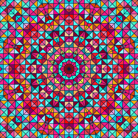 tapis: Abstract Colorful Digital Decorative Flower Star