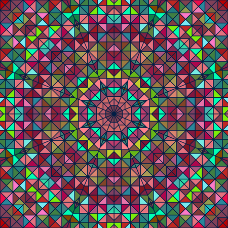 tapis: Abstract Colorful Digital Decorative Flower Star. Geometric Contrast Line Trendy Banner Illustration