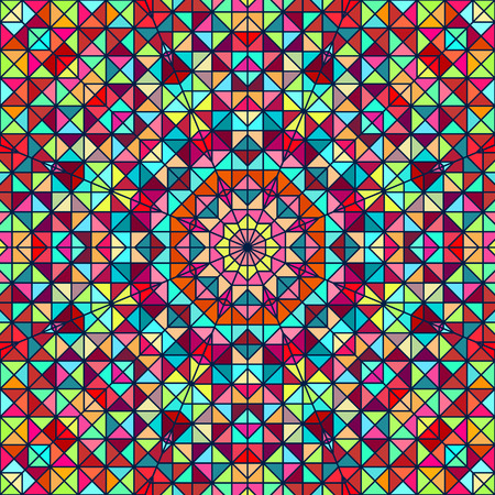 Abstract Colorful Digital Decorative Flower Vector
