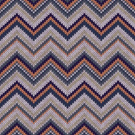 spokes: Seamless geometric ethnic spokes knitted pattern. Blue white orange green color knitwear sample