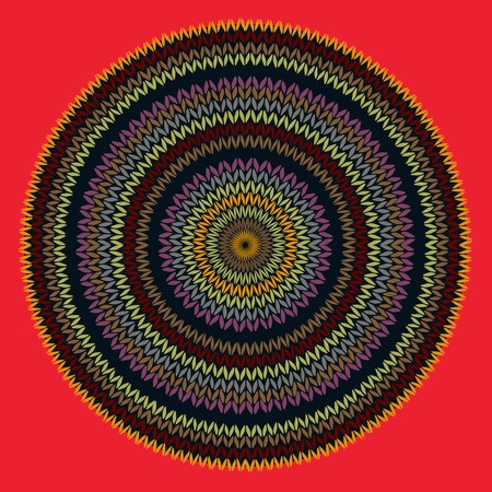 fancywork: Style Circle Simple Color Vector Needlework Background, Ornamental Round Knitted Pattern
