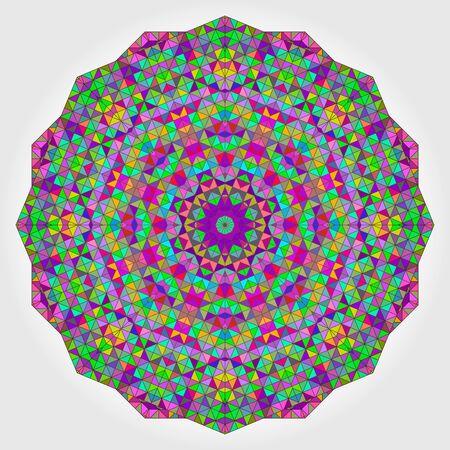 backdrop: Colorful Circle Kaleidoscope Backdrop.