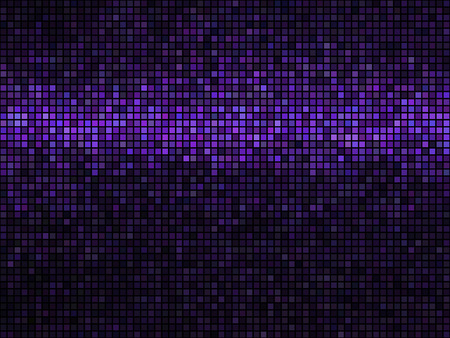 Abstract shimmering purple tiles on the wall. Seamless background 矢量图像