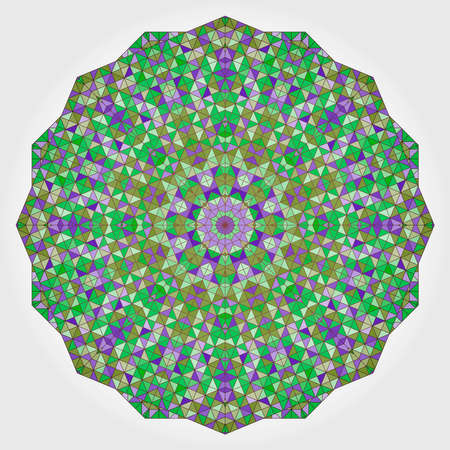 dominant: Abstract Flower. Creative Colorful style vector wheel. Lilac Violet Green White Dominant Color