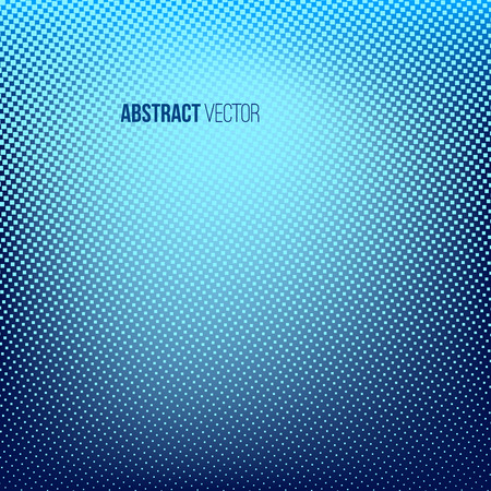 rasterized: Blue abstract halftone background. Creative vector illustration