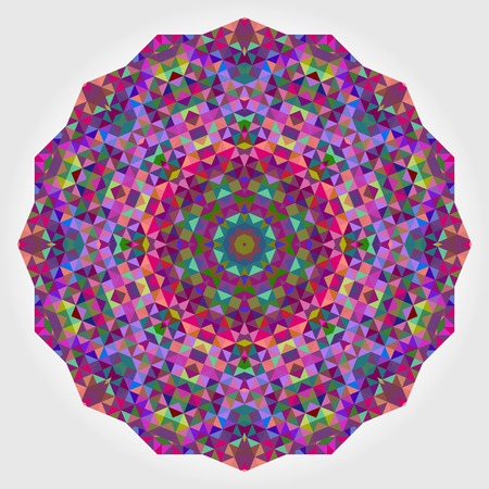purple flower: Abstract Flower. Creative Colorful Style Wheel Colorful Circle Geometric Backdrop. Red Green Orange Purple Lilac Violet Blue Violet Magenta White Color Round Background
