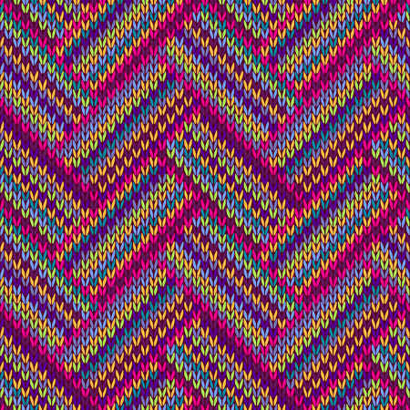 pigtail: Knitted Seamless Red Blue Pink Yellow Violet Orange Green Ornamental Striped Pattern