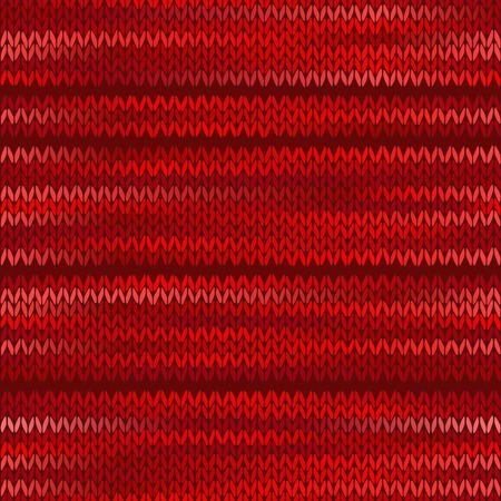 checkered scarf: Style Seamless Knitted Melange Pattern. Red Color Vector Illustration Illustration