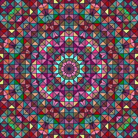 tapis: Abstract Colorful Digital Decorative Flower Star. Geometric Contrast Line Trendy Banner. Blue Yellow Red Cyan Holiday Backdrop Illustration