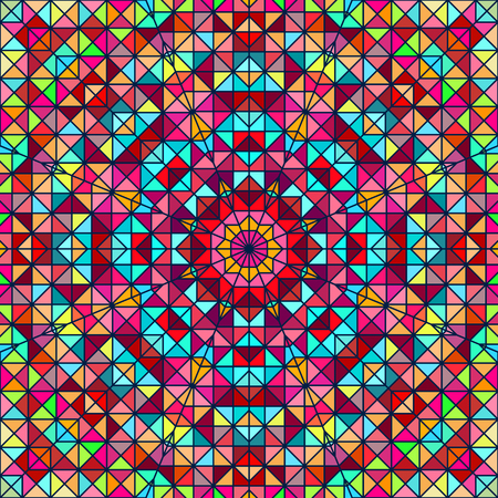 Abstract ColoAbstract Colorful Digital Decorative Flower. Geometric Contrast Line Star and Blue Pink Red Cyan Color Artistic Backdrop rful Digital Decorative Flower. Vector