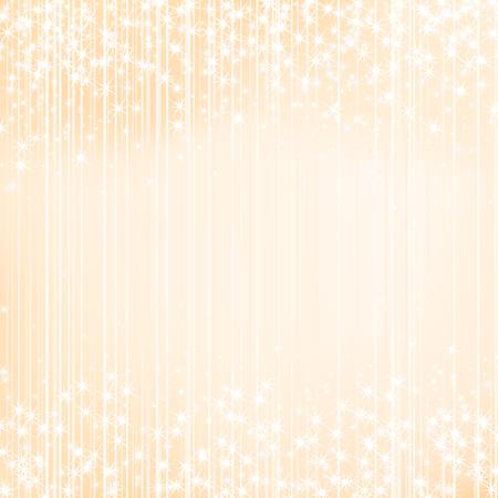 feestelijk: Licht oranje gele vakantie achtergrond met sterren. Feestelijke seizoen ontwerp. Nieuwjaar, Kerstmis, bruiloft evenement stijl Stock Illustratie