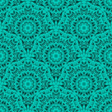 emerald: Abstract Seamless Emerald Geometric Vector Pattern. Vintage Wallpaper Background. Mosaic Texture for Textile PrintÂŒ