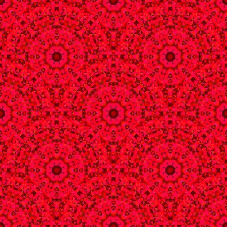 fondo rojo: Modelo inconsútil abstracto geométrico rojo Vector. Papel tapiz de fondo de la vendimia. Mosaico de la textura por Textile Print?