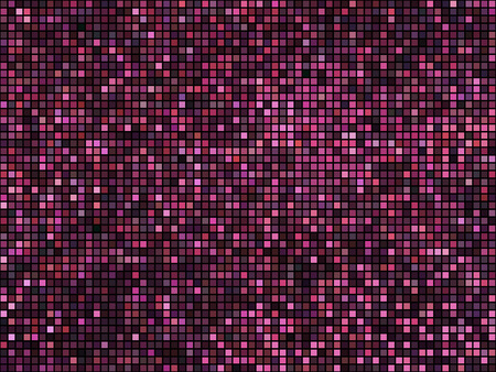disco lights: Abstract mosaic background. Square pixel mosaic. Lights red disco texture