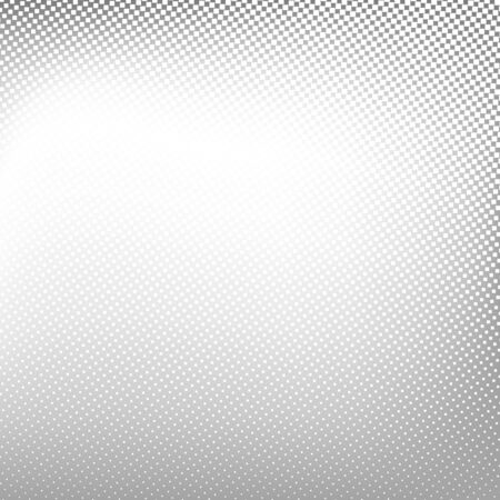 Abstract spotted halftone background. Vector black white gray color illustration for business presentation Vettoriali