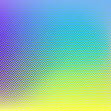 yellow vector: Blue yellow vector halftone background. Creative  illustration
