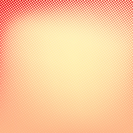 red banner: Halftone background. Red and yellow color square shape banner