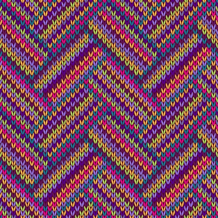 violet red: Knitted Seamless Red Blue Pink Yellow Violet Orange Green Ornamental Striped Pattern