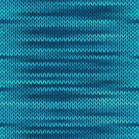 checkered scarf: Style Seamless Knitted Melange Pattern. Blue Color Vector Illustration
