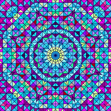 artistic flower: Abstract Colorful Digital Decorative Flower. Geometric Contrast Line Star and Blue Pink Red Cyan Color Artistic Backdrop
