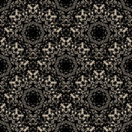 Wallpaper Seamless Pattern. Abstract Ornamental Geometrical Vector Background