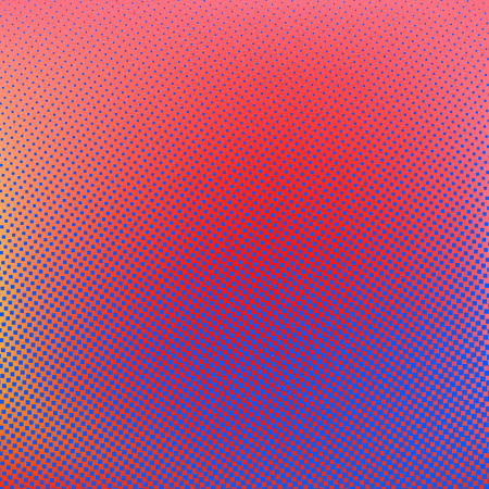 rasterized: Halftone background. Red blue violet orange creative vector illustration