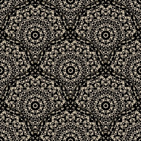 dismal: Wallpaper Seamless Pattern. Abstract Ornamental Geometrical Vector Background