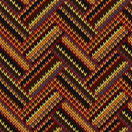 swatch: Seamless Knitted Pattern. Yellow Orange Red Brown Grey Black Color Swatch Illustration