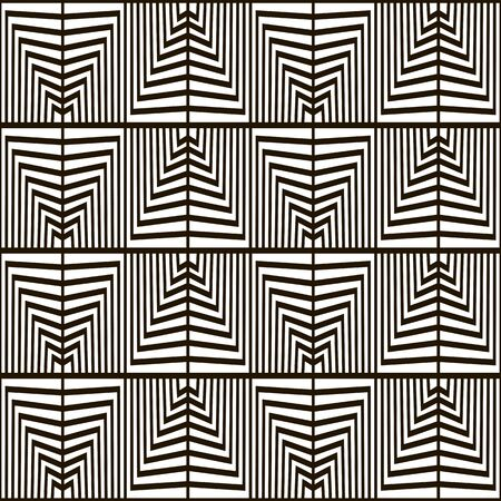 black background abstract: Seamless geometric vector pattern. Black and white color