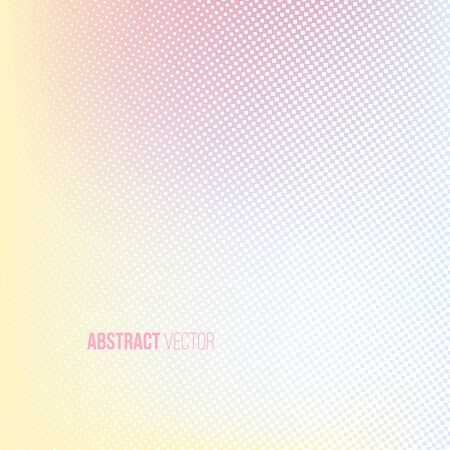 background color: Halftone background. Light yellow blue pink lilac white and yellow color square shape banner