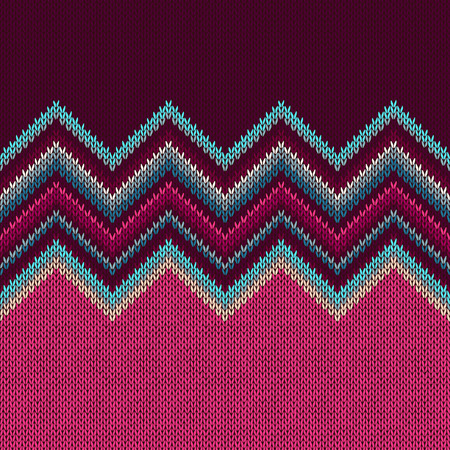 vinous: Seamless Ethnic Geometric Knitted Pattern. Crimson Vinous Blue White Christmas Horizontal Seamless Background