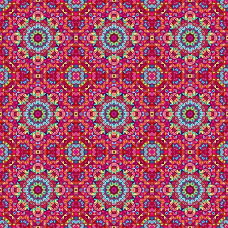 textile texture: Ornamental seamless pattern. Abstract red geometrical vector background Illustration