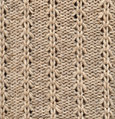 woven: Wool Knitted Pattern. Closeup Fabric Background Stock Photo