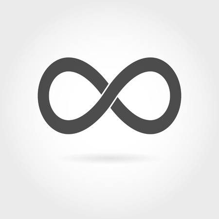 Infinity icon. Simple mathematical sign Isolated on White Background. Infinity symbol