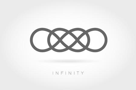 無限のアイコン。単純な数学記号白背景に分離されました。無限大記号