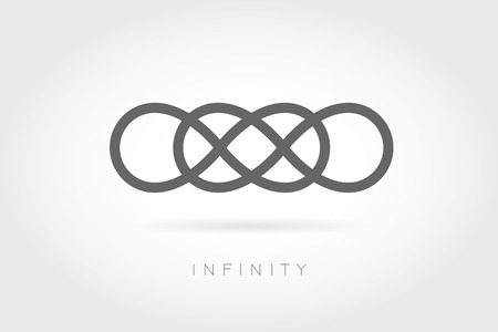 signo infinito: Icono sin límites. Signo matemático simple aislado en el fondo blanco. símbolo infinito