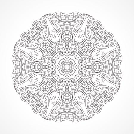 indische muster: Mandala. Ethnische dekorative Elemente indischen, Islam, arabische Motive. Runde Verzierung mit Muster. Isoliert auf weißem zarte Spitze Serviette