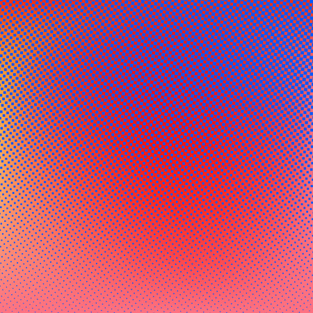 Fondo de semitono. Rojo azul violeta ejemplo creativo de naranja