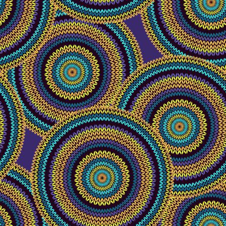 Cercle abstrait sans couture de style ethnique Vecteurs