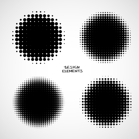 black circle: Simple Abstract Halftone Backgrounds Illustration