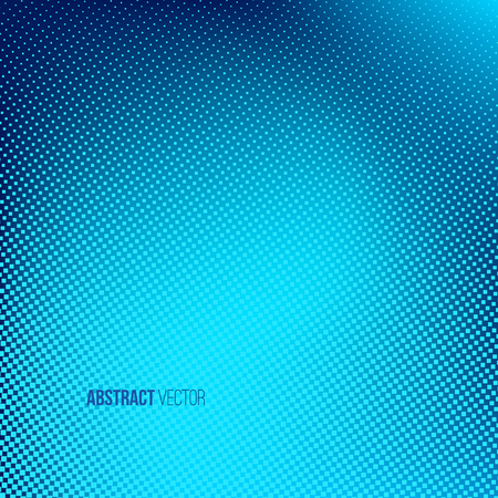 Abstract halftone background. Creative illustration.  Blue dotted banner. Business presentation concept