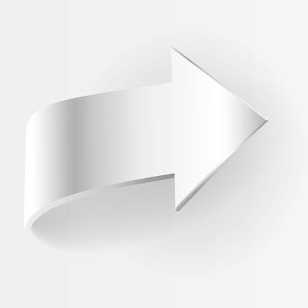 business symbol: White arrow. Symbol of motion business concept Illustration