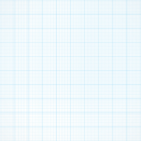 mm: Graph seamless millimeter grid paper engineering light blue and white color background