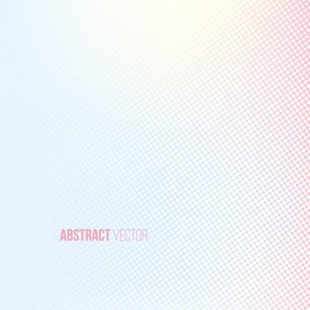 Halftone background. Light yellow blue pink lilac white and yellow color square shape banner