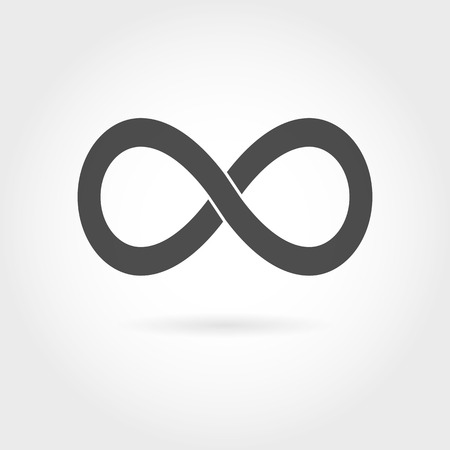 eternally: Infinity icon. Simple mathematical sign Isolated on White Background. Infinity symbol