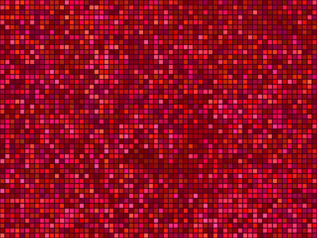 mosaic: Seamless abstract pixel mosaic pattern. Red light color textured background
