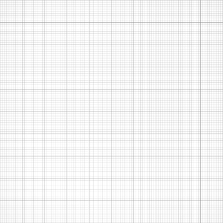 millimeter: Graph seamless millimeter grid paper. Vector engineering light gray and white color background