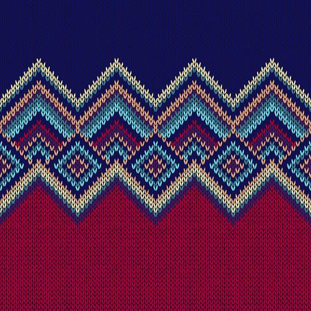 Motif continu. Knit Woolen Trendy Ornement Texture. Tissu Couleur entrecroisées Fond