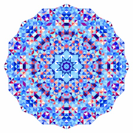 red rug: Abstract colorful circle backdrop. Geometric vector mandala. Mosaic banner of geometric shapes
