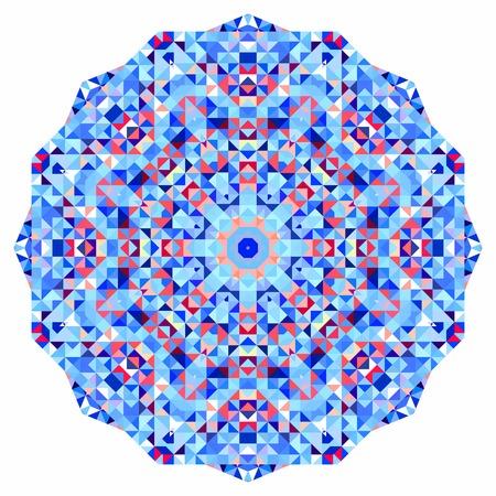 tucker: Abstract colorful circle backdrop. Geometric vector mandala. Mosaic banner of geometric shapes